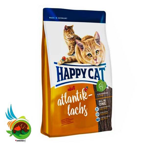 غذای گربه خارج از خانه هپی کت با طعم ماهی سالمون
