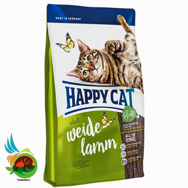 غذای گربه خارج از خانه هپی کت با طعم گوشت بره