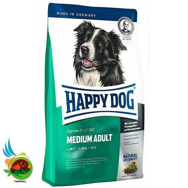 غذای سگ بالغ نژاد متوسط هپی داگ