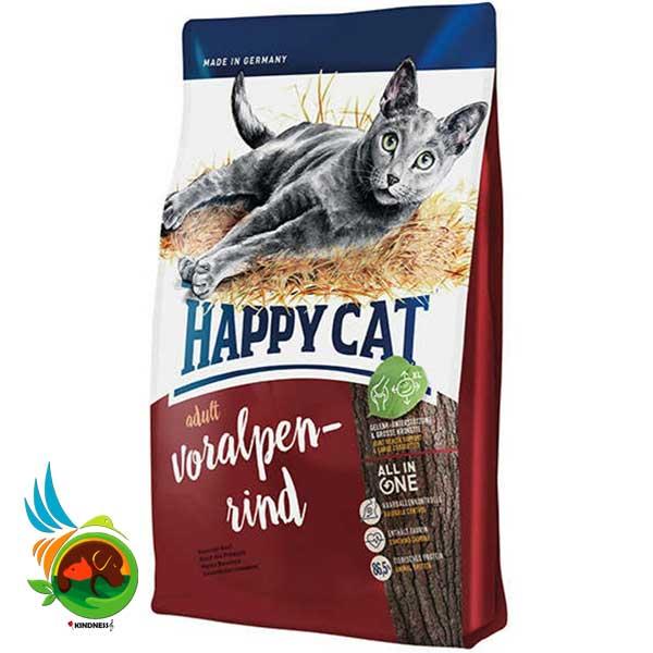 غذای گربه خارج از خانه هپی کت با طعم گوشت گاو