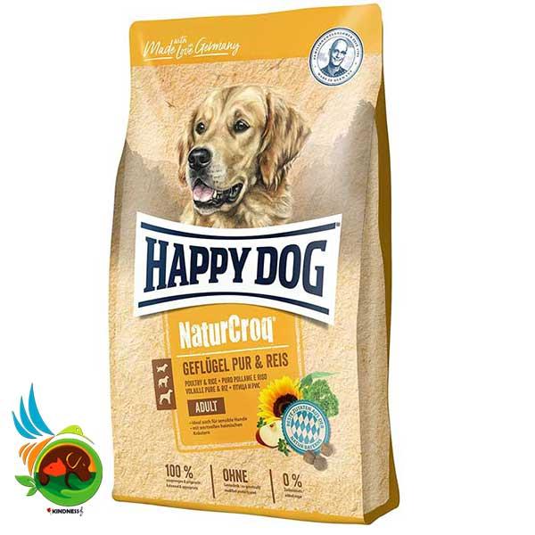 غذای سگ بالغ Nature Croq هپی داگ با طعم مرغ و برنج