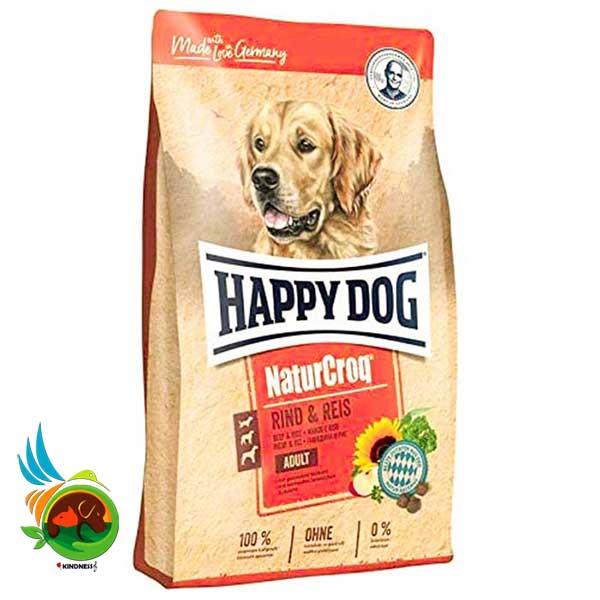 غذای سگ بالغ Nature Croq هپی داگ با طعم گاو و برنج