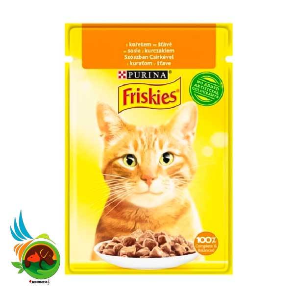 پوچ گربه فریسکیز با طعم مرغ