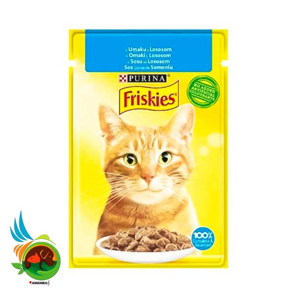 پوچ گربه فریسکیز با طعم سالمون