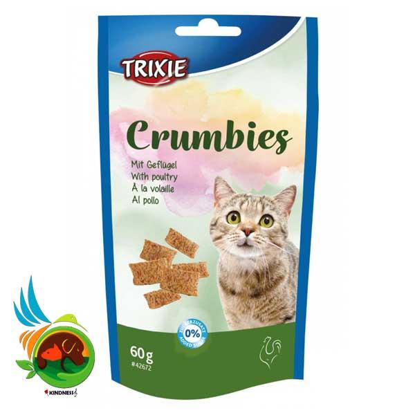 تشویقی گربه همراه با مالت تریکسی Crumbies