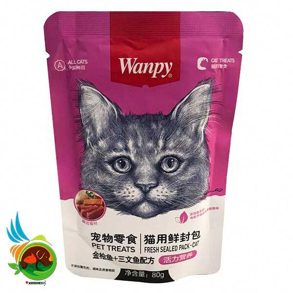 پوچ گربه ونپی با طعم مرغ و ماهی