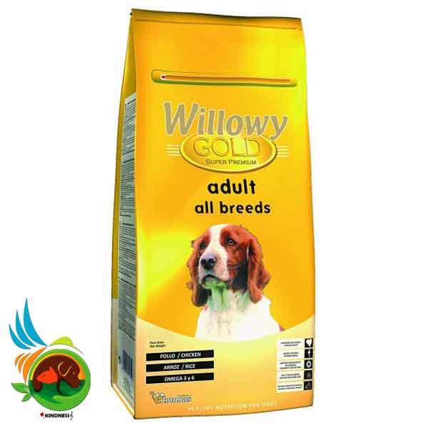 غذای کامل سگ بالغ Willowy Gold Adult All Breeds وزن 3 کیلوگرم