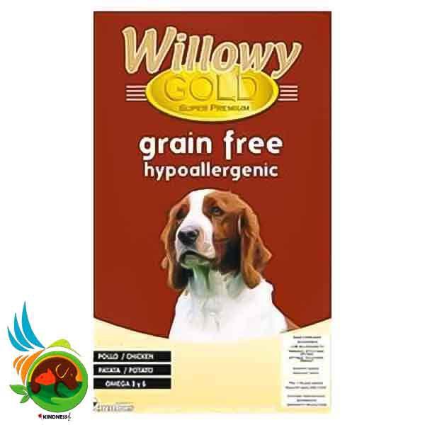 غذای خشک سگ Willowy Gold Grain Free hypoallergenic وزن 10 کیلوگرم