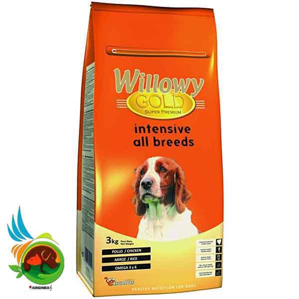 غذای سگ مدل Willowy Gold Intensive High Activity وزن 3 کیلوگرم