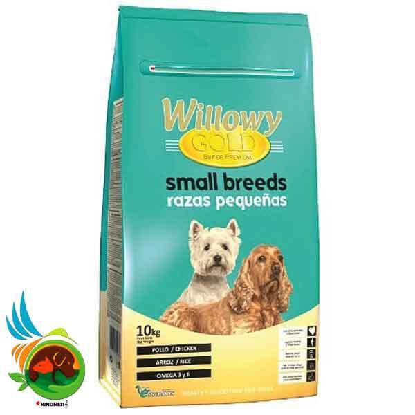 غذای خشک سگهای نژاد کوچک WILLOWY Gold Dog Small Breed