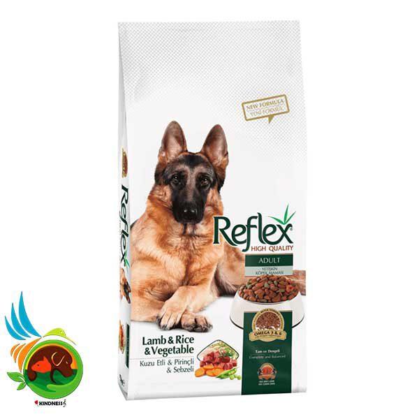 غذای سگ بالغ رفلکس با بره و برنج و سبزیجات Lamb & Rice & Vegetable وزن 3 کیلوگرم