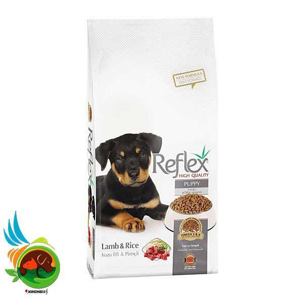 غذای توله سگ رفلکس با بره و برنج Reflex Premium Puppy Lamb & Rice